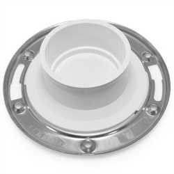 "3"" Spigot, Total Knockout Closet Flange (TKO) w/ Swivel St. Steel Ring, SCH40 PVC"