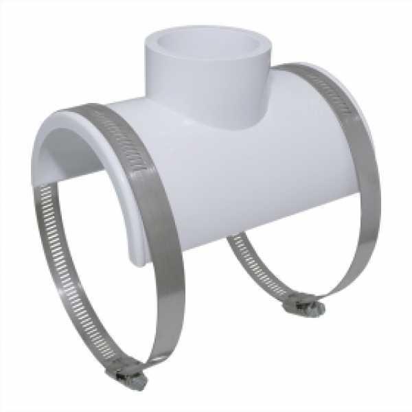 "3"" x 1-1/2"" hub (or 2"" spigot) PVC Smart Saddle Tee"