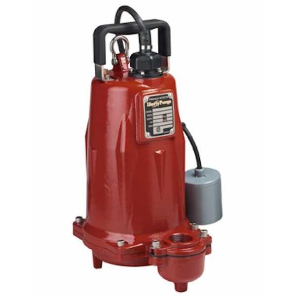 """Liberty Pumps FL203M-2 2 HP Manual Effluent Pump, 208V ~ 240V, 25"""" cord"""