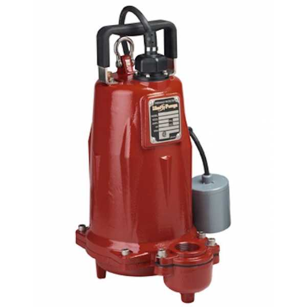 """Liberty Pumps FL204M-2 2 HP Manual Effluent Pump, 440V ~ 480V, 25"""" cord"""