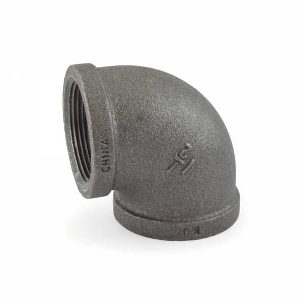 """1-1/2"""" Black 90° Elbow (Imported)"""