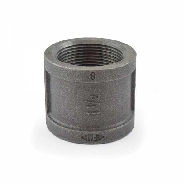 """1-1/2"""" Black Coupling (Imported)"""