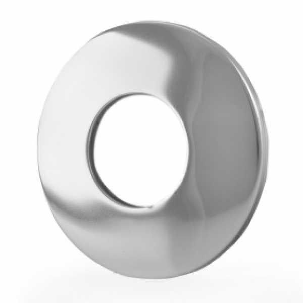"3/4"" IPS Chrome Plated Steel Escutcheon for 1/2"" Brass, Iron Pipes, Shower Arms"