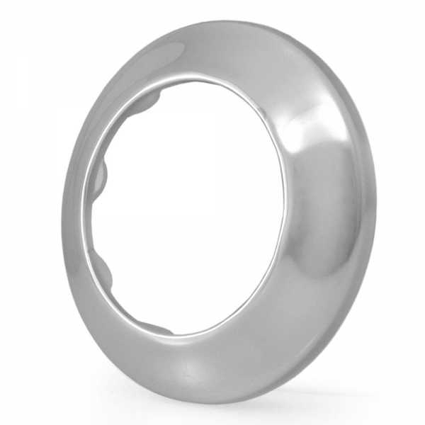 """1-1/2"""" IPS Chrome Plated Steel Escutcheon for 1-1/2"""" Brass, Iron Pipes"""