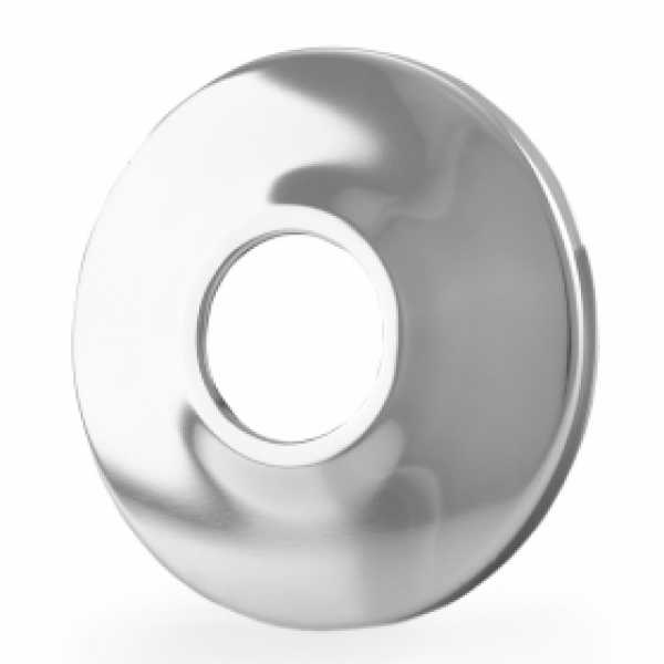 "1/2"" IPS Chrome Plated Steel Escutcheon for 1/2"" Brass, Iron Pipes, Shower Arms"