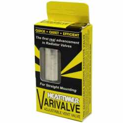 "Varivalve Adjustable Straight Steam Radiator Vent, 1/8"" NPT"