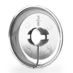 "1/2"" CTS Chrome Plated Plastic, Split-Type Escutcheon for 1/2"" PEX, Copper"