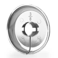 "1/2"" CTS Chrome Plated Plastic, Split-Type Escutcheon for 1/2"" PEX, Copper"