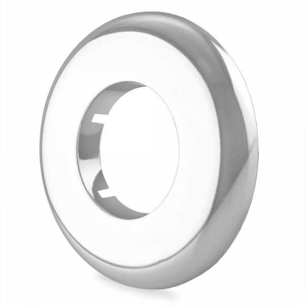 "1-1/4"" IPS Chrome Plated Plastic, Split-Type Escutcheon for 1-1/4"" Brass, Iron Pipes"