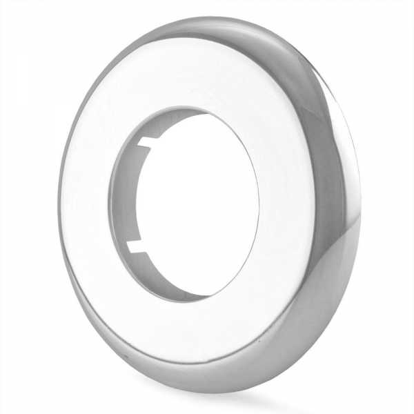 "1-1/2"" IPS Chrome Plated Plastic, Split-Type Escutcheon for 1-1/2"" Brass, Iron Pipes"