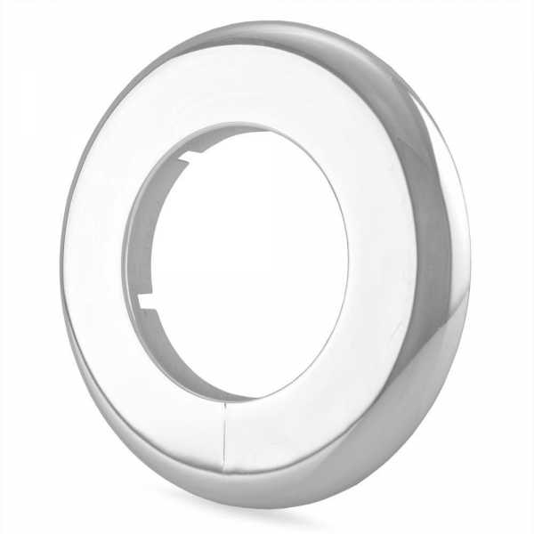 """2"""" IPS Chrome Plated Plastic, Split-Type Escutcheon for 2"""" Brass, Iron Pipes"""