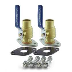 "1"" Sweat Pump Isolation Valves (Pair)"