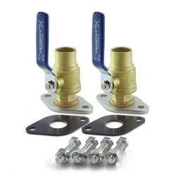 "1"" Sweat Pump Isolation Valves (Pair)"
