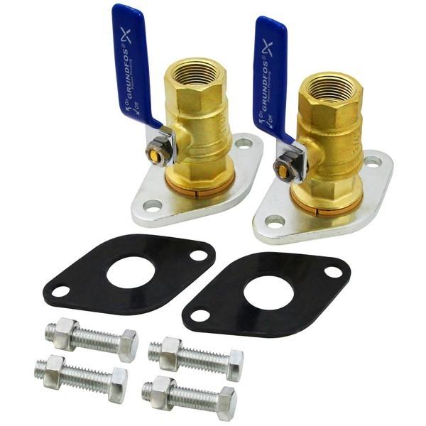 "96806131 1"" NPT Grundfos Pump Isolation Valves (pair)"