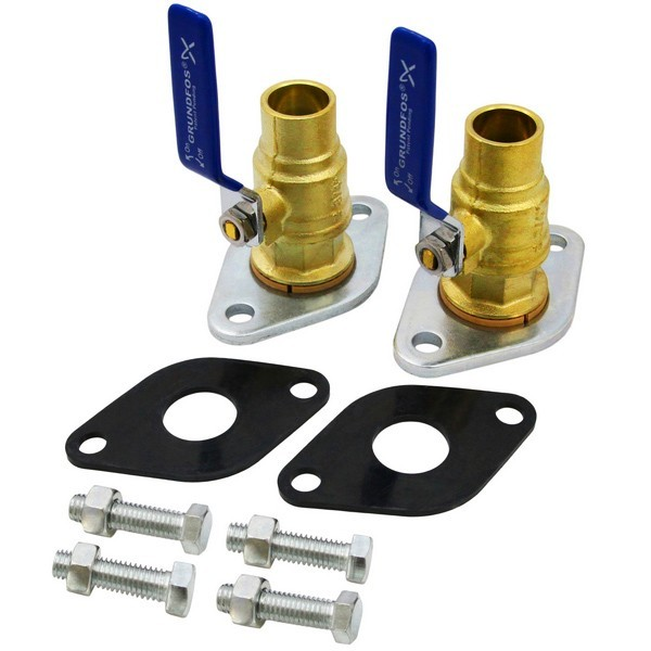 "96806137 1-1/4"" Sweat Grundfos Pump Isolation Valves (pair)"