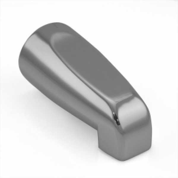 """5-1/4"""" long, SmartSpout Slip-On Tub Spout, Chrome"""