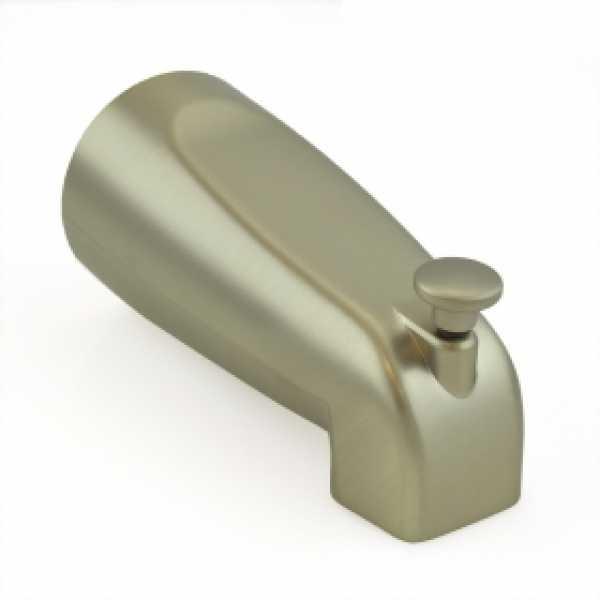 "5-1/4"" long, SmartSpout Slip-On Tub Spout w/ Shower Diverter, Satin Nickel"