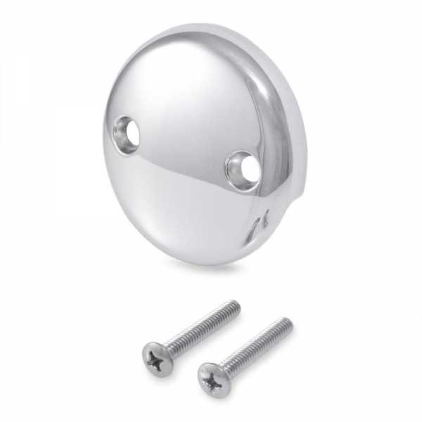 Bathtub Overflow Faceplate w/ Screws, Chrome Plated, 2-hole