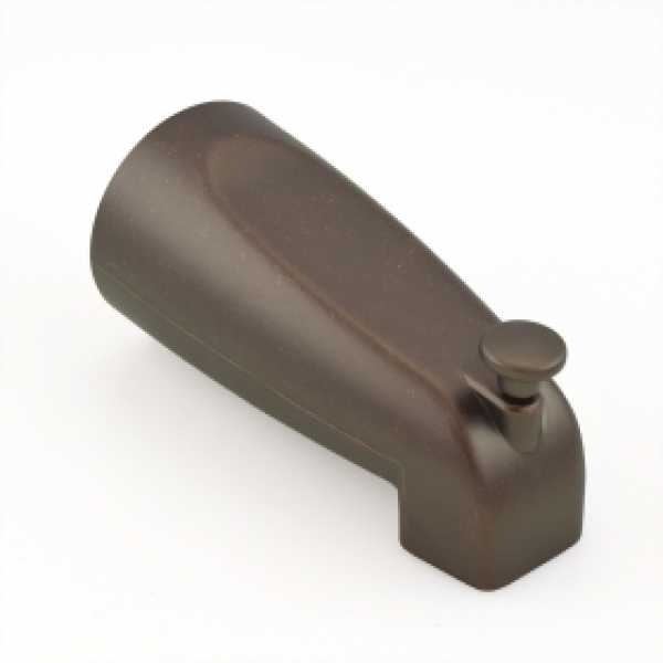 "5-1/4"" long, SmartSpout Slip-On Tub Spout w/ Shower Diverter, Oil Rubbed Bronze"