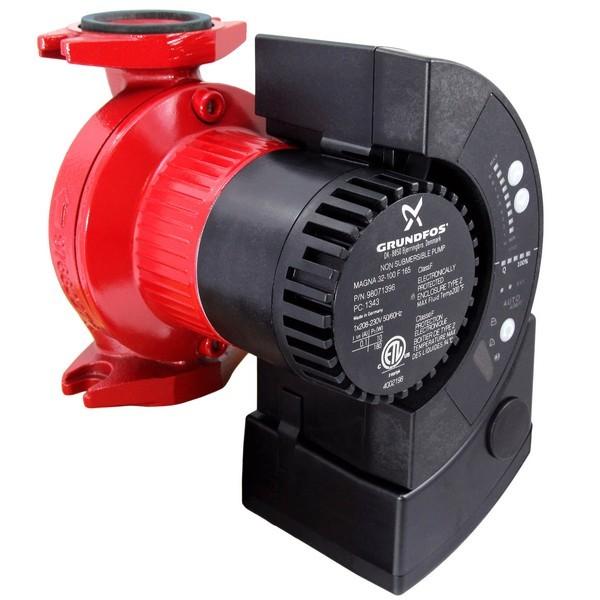 Grundfos 98071396 32-100 F Variable-Speed Circulator Pump, 1/6HP, 230V, GF15/26 Flange