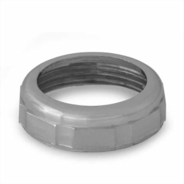 "1-1/4"" Tubular Slip Nut, Chrome Plated Zinc"
