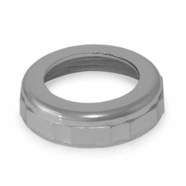 "1-1/2"" x 1-1/4"" Tubular Slip Nut, Chrome Plated Zinc"