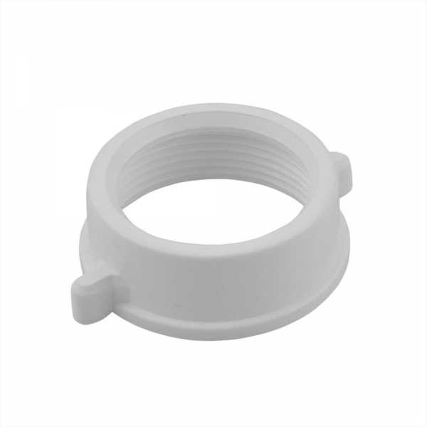 "1-1/2"" Tubular Slip Nut, White PolyPropylene"