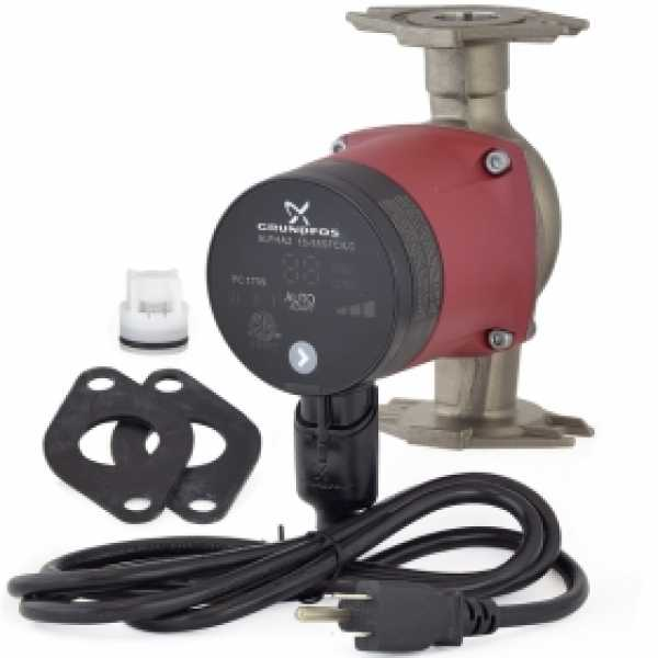 Alpha2 15-55SF/LC Variable Speed Stainless Steel Circulator Pump w/ IFC, Line Cord, 1/16 HP, 115V