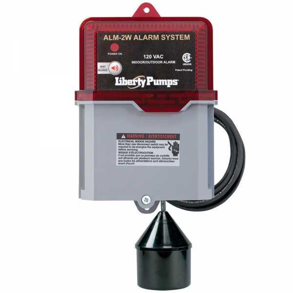 Liberty Pumps ALM-2W, Indoor/Outdoor High Liquid Level Alarm, 82 decibel horn, 20' cord