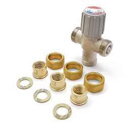 "1/2"" Union Threaded Mixing Valve (Lead-Free), 70-145F"