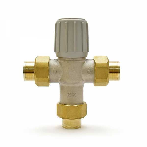 "3/4"" Union Sweat Mixing Valve (Lead-Free), 70-120F"