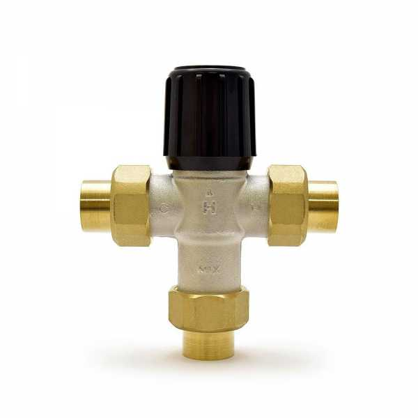 """3/4"""" Union Sweat Mixing Valve (Heating Only), 70-180F"""