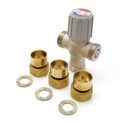 "Honeywell AM102-US-1LF AM-1 Series Mixing Valve, 1"" Union Sweat, 70 F to 145 F"