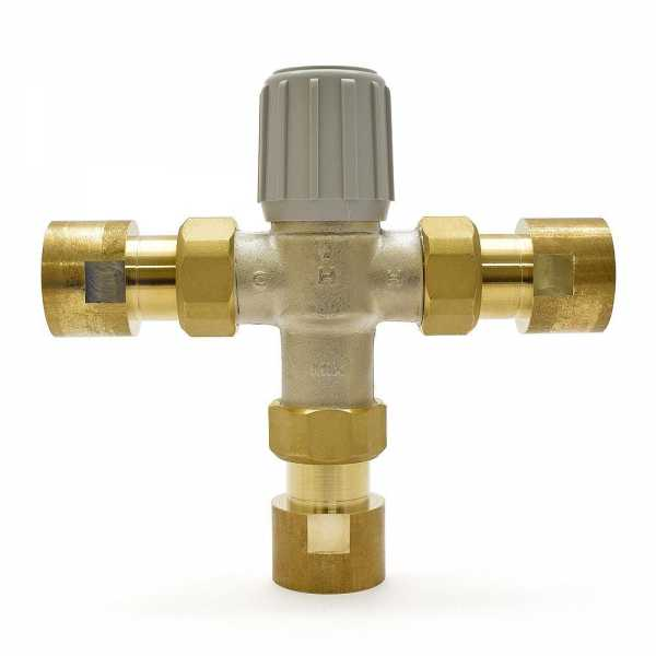 "1"" Union Threaded Mixing Valve (Lead-Free), 70-145F"