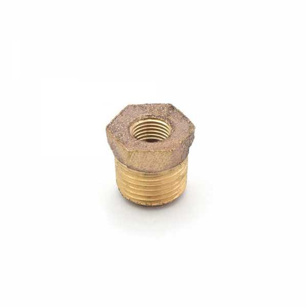 "1/4"" MPT x 1/8"" FPT Brass Bushing, Lead-Free"