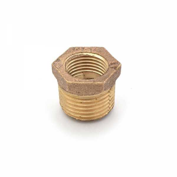 "1/2"" MPT x 3/8"" FPT Brass Bushing, Lead-Free"