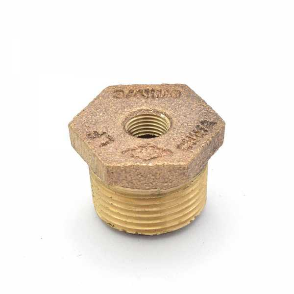 "3/4"" MPT x 1/8"" FPT Brass Bushing, Lead-Free"