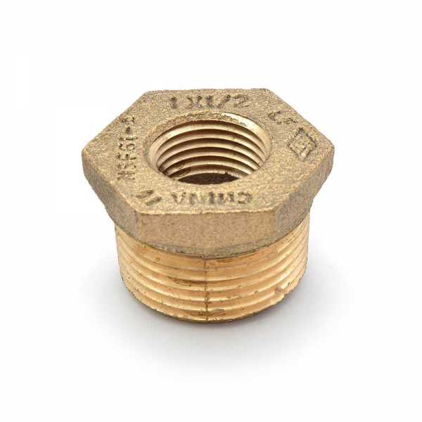 "1"" MPT x 1/2"" FPT Brass Bushing, Lead-Free"