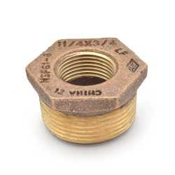 "1-1/4"" MPT x 3/4"" FPT Brass Bushing, Lead-Free"