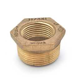 "1-1/4"" MPT x 1"" FPT Brass Bushing, Lead-Free"