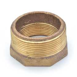 "2"" x 1-1/2"" FPT Brass Bushing, Lead-Free"