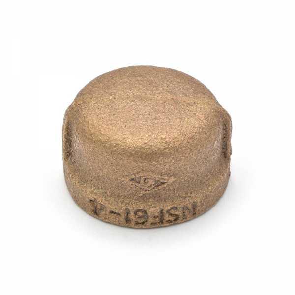 "3/4"" FPT Brass Cap, Lead-Free"