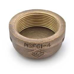 "1-1/2"" FPT Brass Cap, Lead-Free"