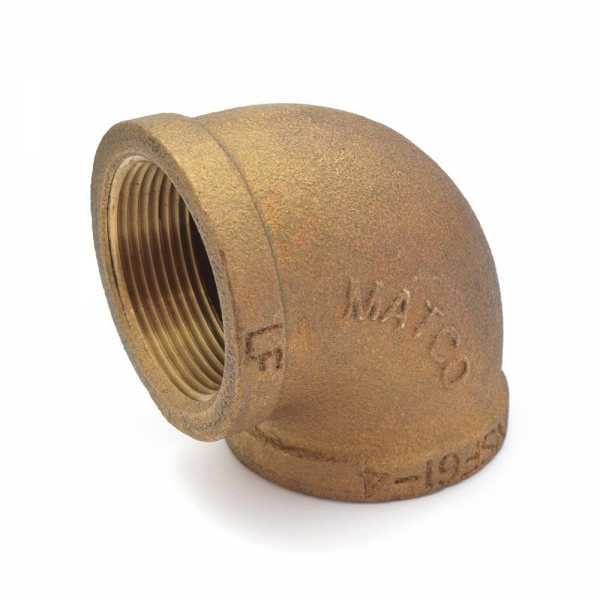 """1-1/2"""" FPT Brass 90° Elbow, Lead-Free"""