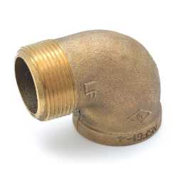 "1-1/4"" FPT x MPT Brass 90° Street Elbow, Lead-Free"