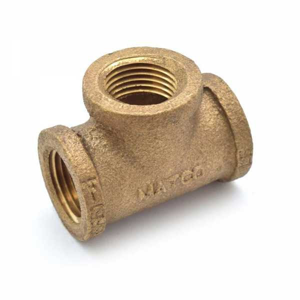 "1/2"" FPT Brass Tee, Lead-Free"