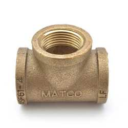 "1"" FPT Brass Tee, Lead-Free"