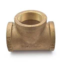 "1-1/2"" FPT Brass Tee, Lead-Free"