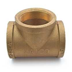 """2"""" FPT Brass Tee, Lead-Free"""