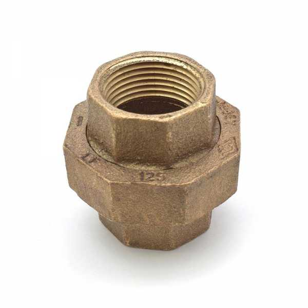 "1"" FPT Brass Union, Lead-Free"